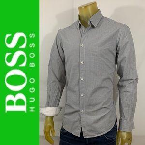 Hugo Boss Green Modern Fit Long Sleeve Shirt